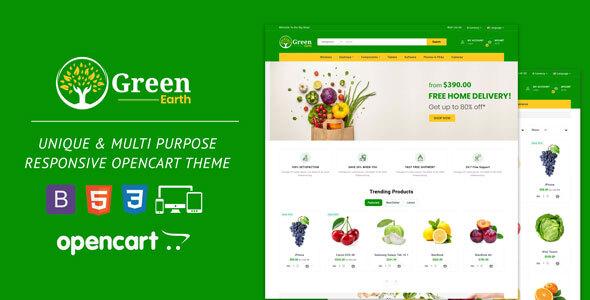 Green Earth Organic Responsive Opencart Theme