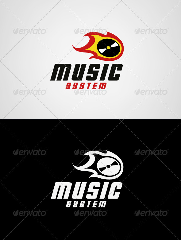 Music System Logo Template - Symbols Logo Templates