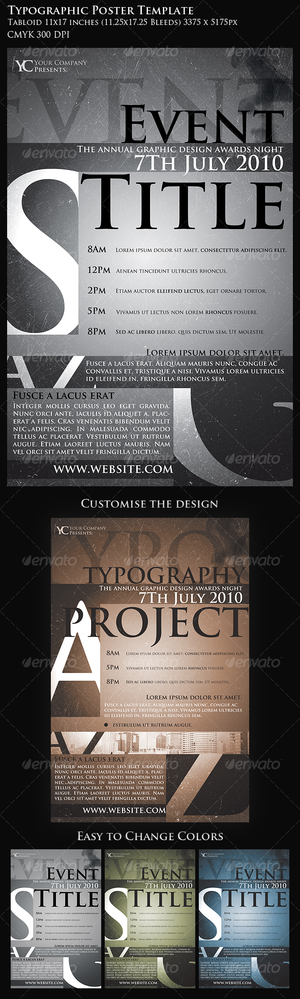 Typographic Poster Template - Miscellaneous Events