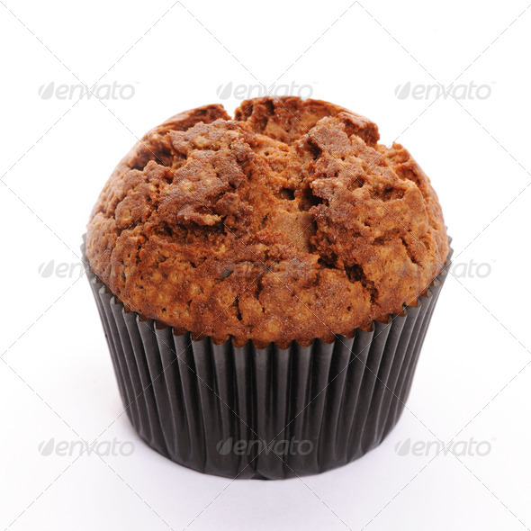 Muffin isolated on white - Stock Photo - Images