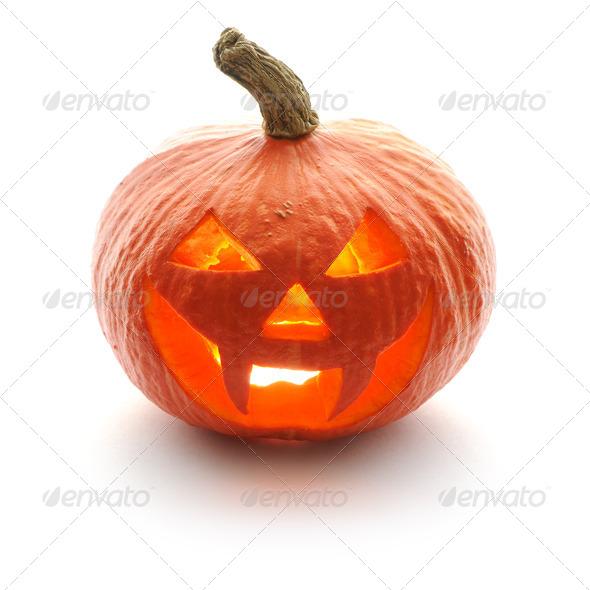 Halloween pumpkin Jack O'Lantern - Stock Photo - Images