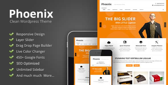 Phoenix - Clean Responsive Wordpress Theme - Corporate WordPress
