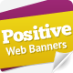 Positive Attitude Web Banners - GraphicRiver Item for Sale
