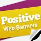 Positive Attitude Web Banners - GraphicRiver Item for Sale