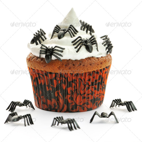 Halloween cupcake - Stock Photo - Images