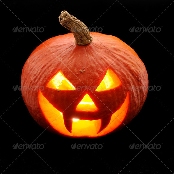 Halloween pumpkin Jack O'Lantern - Stock Photo - Images