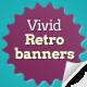 Vivid Retro Banners - GraphicRiver Item for Sale
