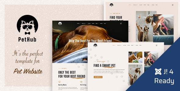 PetHub   Dog, Cat Care & Veterinary Joomla 4 Template
