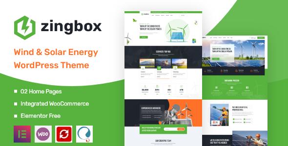 Download Zingbox – Wind & Solar Energy WordPress Theme Free Nulled