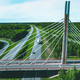 Aerial view of bridge over highway road in Finland. - PhotoDune Item for Sale