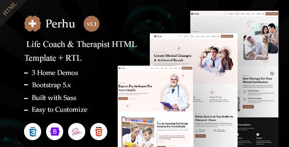 Perhu - Life Coach & Therapist HTML Template