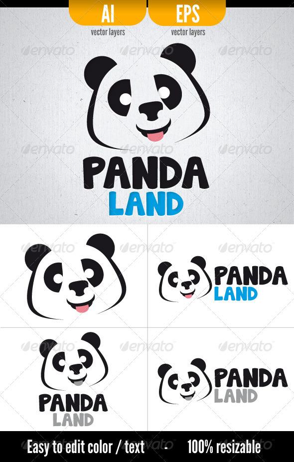 Panda Land - Logo Template - Animals Logo Templates