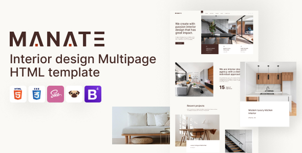 Manate - Interior Design HTML5 Template