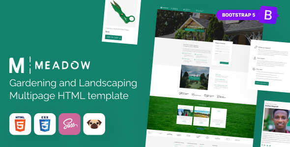 Meadow - Gardening, Lawn Care HTML5 Template