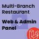Multi-Branch Restaurant - Laravel Website with Admin Panel