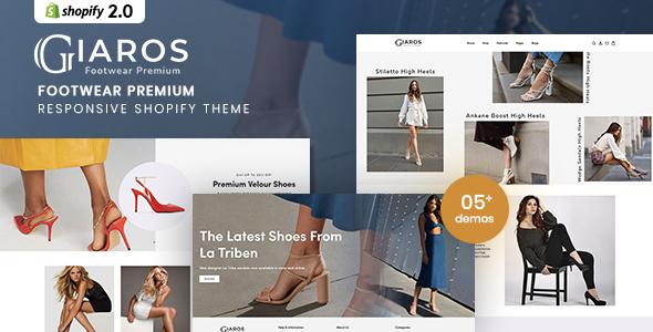 Giaros - Footwear Premium Responsive Shopify Theme