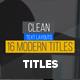 Modern 16 Minimal Titles - VideoHive Item for Sale