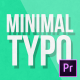 Minimal Typography | MOGRT - VideoHive Item for Sale