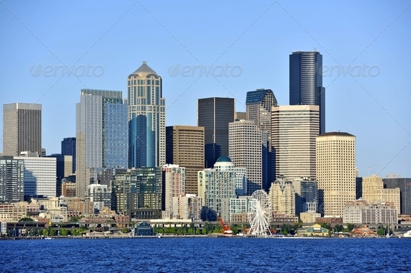 Seattle Downtown - Stock Photo - Images