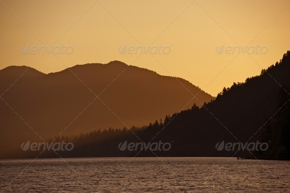 Sunset in the Hills - Stock Photo - Images