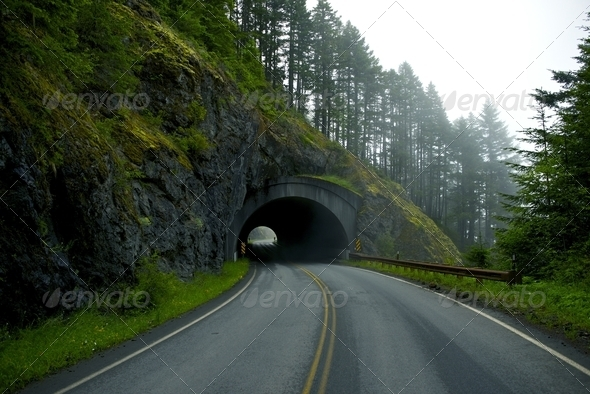 Road Tunnel - Stock Photo - Images