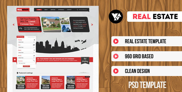 Real Estate | PSD Template - Business Corporate