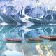 Panoramic view of Lake Braies Dolomites Italy - PhotoDune Item for Sale