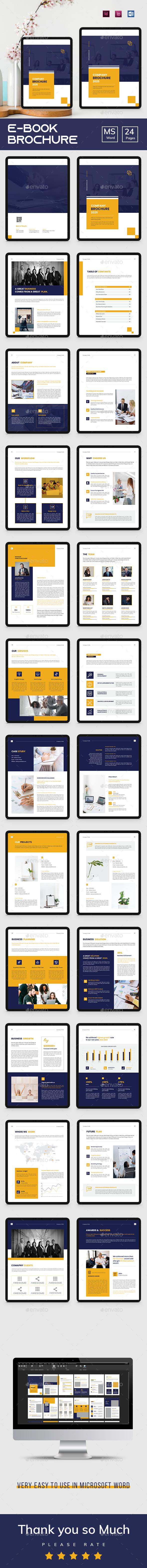 Corporate E-book Brochure Word Template