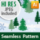 Seamless Pattern of Trees and Snowflakes - GraphicRiver Item for Sale