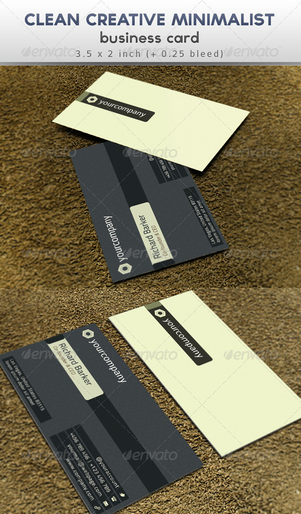 Clean Creative Business Card Template - Corporate Business Cards