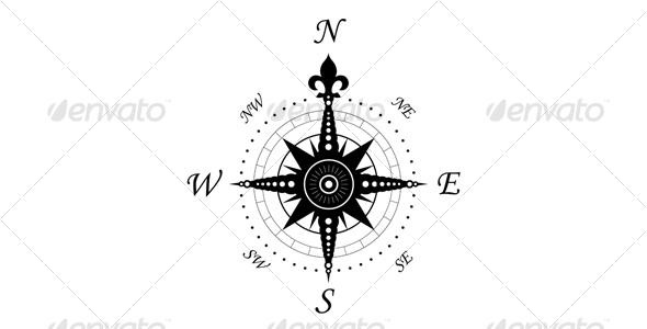 Vintage compass symbol - Decorative Symbols Decorative