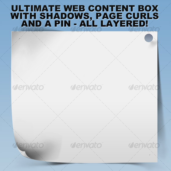 Ultimate Web Content Box w/Shadows and Curls - Miscellaneous Web Elements