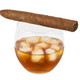 Glass of whiskey with ice and cigar - PhotoDune Item for Sale