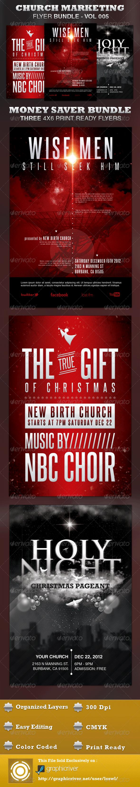 Church Marketing Flyer Bundle Vol-005 - Church Flyers