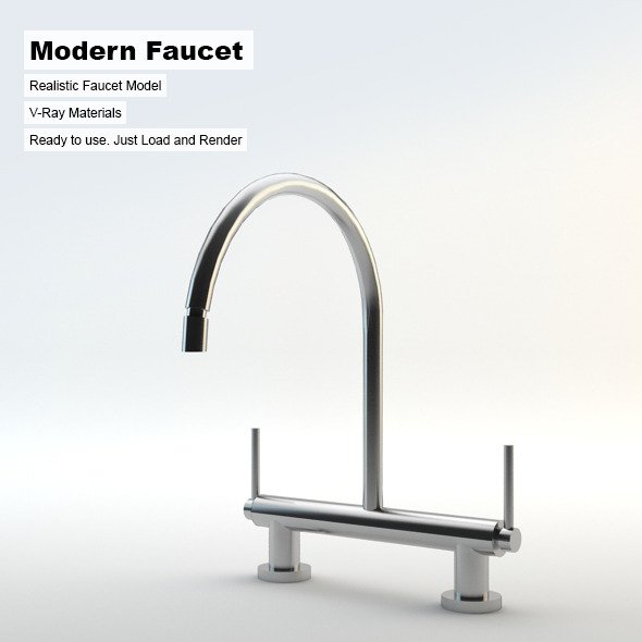 Modern Faucet - 3DOcean Item for Sale