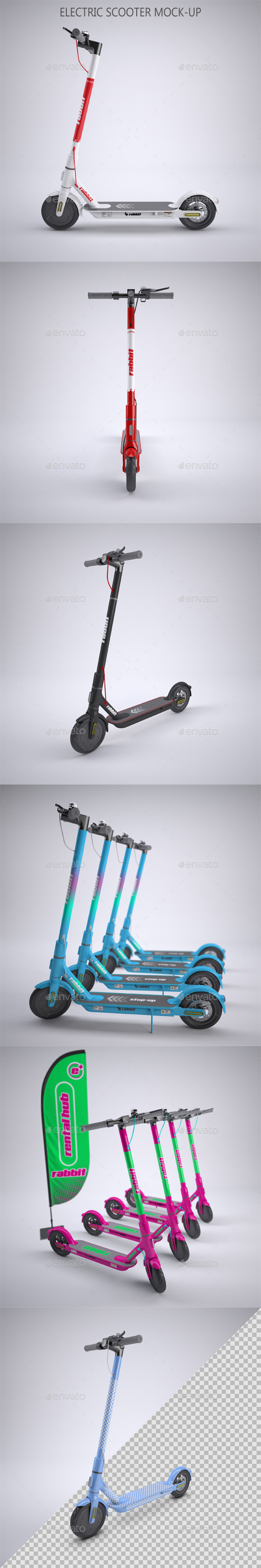 Electric Scooter for Rent Mock-up