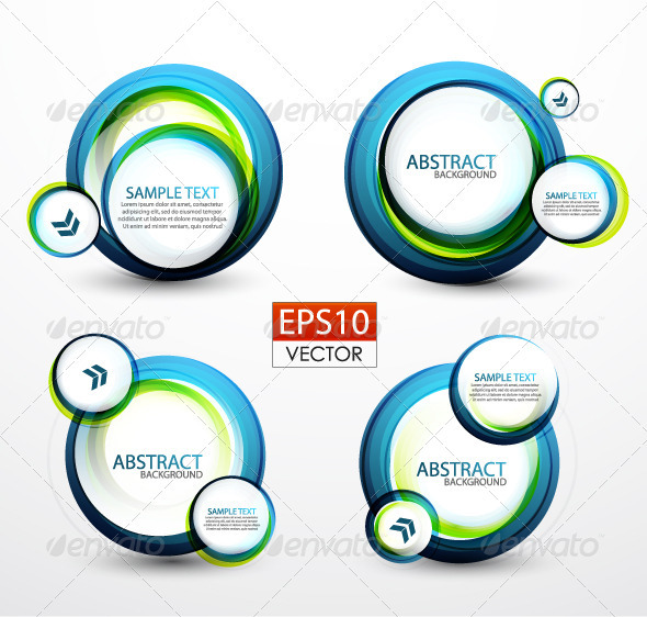 Vector Circle Banners - Backgrounds Decorative