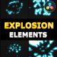 2D Explosion Elements | DaVinci Resolve - VideoHive Item for Sale