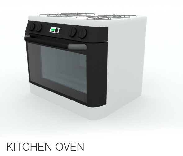 Kitchen Oven - 3DOcean Item for Sale