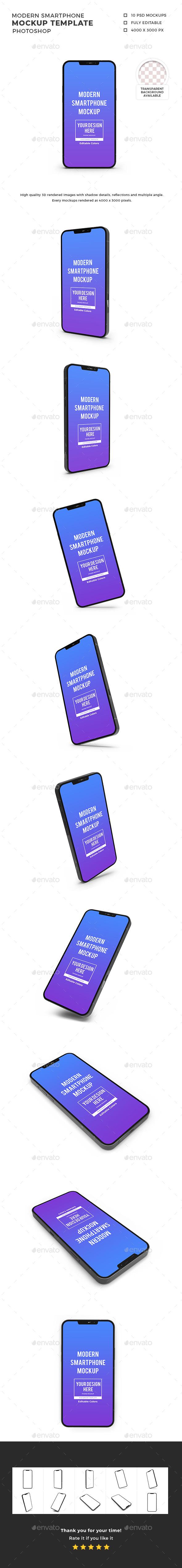 Modern Smartphone Mockup Template