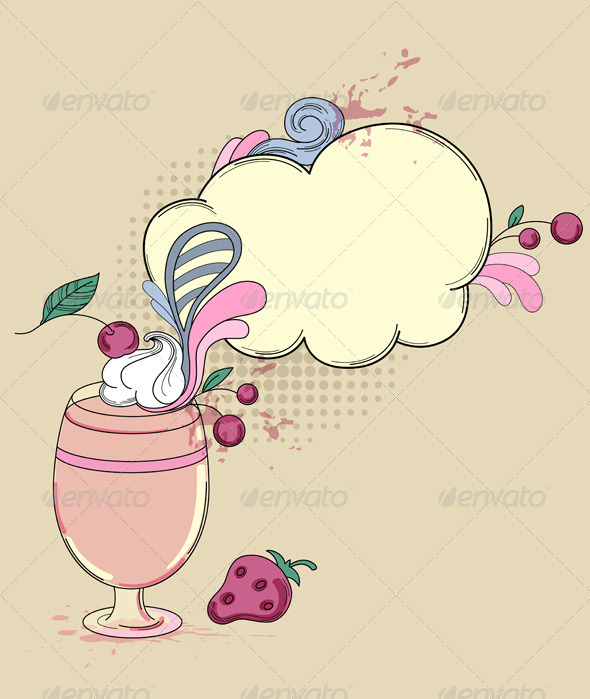 Drink with Berry - Food Objects