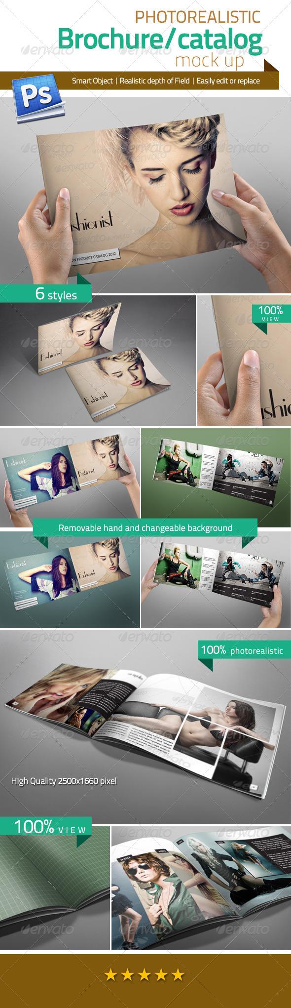 Professional Brochure/Catalog Mock Up - Brochures Print