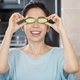 Covering Eyes With Cucumber Slices - PhotoDune Item for Sale