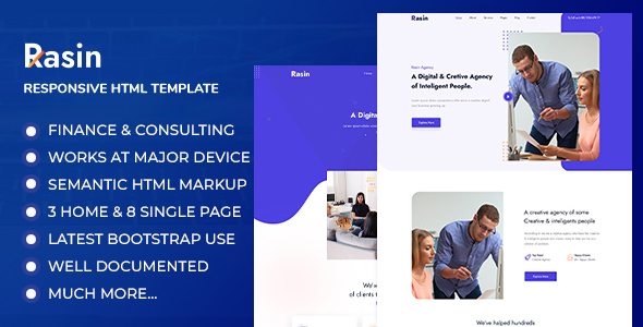 Rasin - Business & Consulting HTML Template