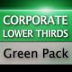 Corporate Lower Thirds Green Pack
