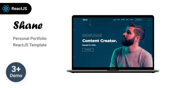 Shane - Personal Portfolio React  Template