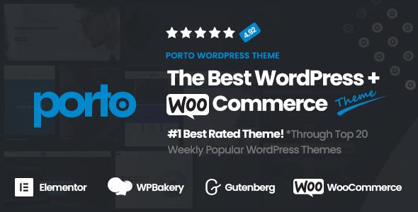 Porto | Multipurpose & WooCommerce Theme Nulled