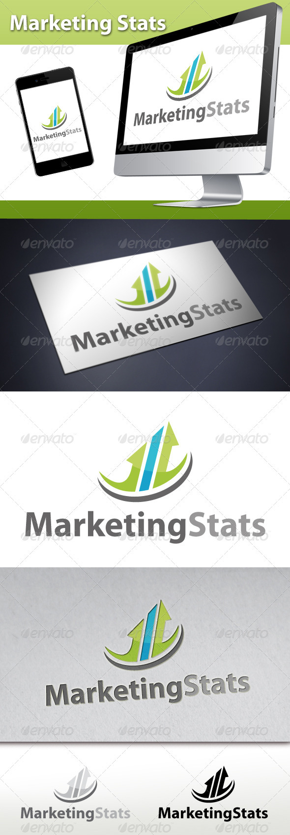 Marketing Stats Logo 1 - Symbols Logo Templates