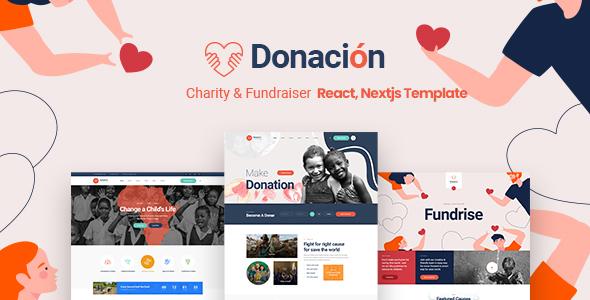 Donacion - Fundraising & Charity React, Nextjs Template