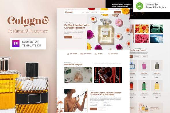 Cologne – Perfume & Fragrance Elementor Template Kit
